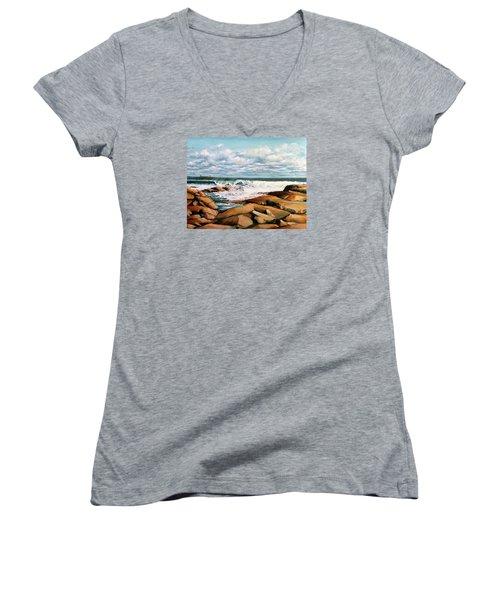 Back Shore Gloucester Women's V-Neck T-Shirt