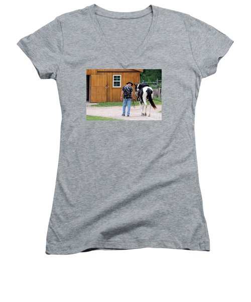 Back To The Barn Women's V-Neck