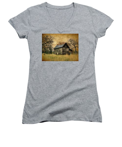 Backwoods Cabin Women's V-Neck T-Shirt