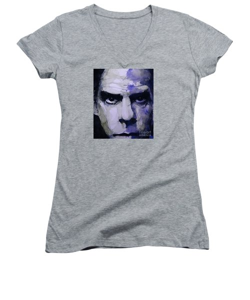 Bad Seed Women's V-Neck T-Shirt (Junior Cut) by Paul Lovering