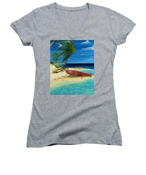 Bahama Beach Women's V-Neck