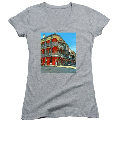 Balconies Painted Women's V-Neck T-Shirt
