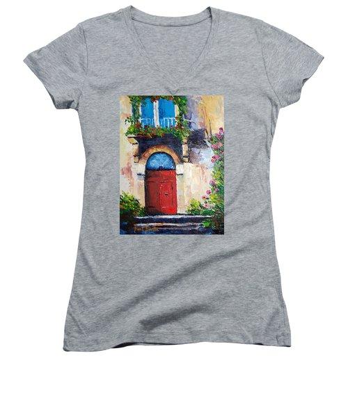 Balcony Women's V-Neck T-Shirt