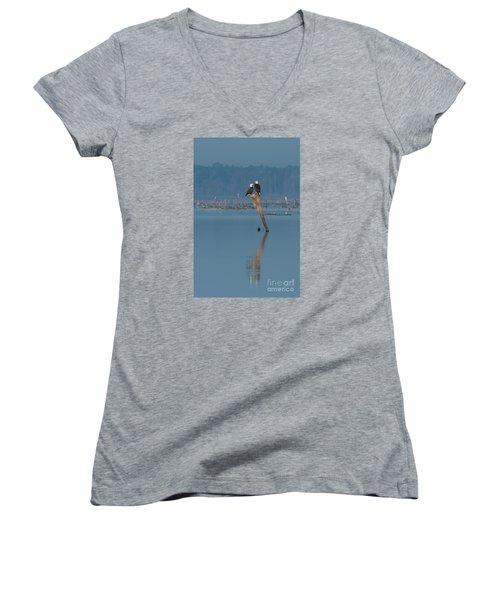 Bald Eagle Pair Women's V-Neck T-Shirt
