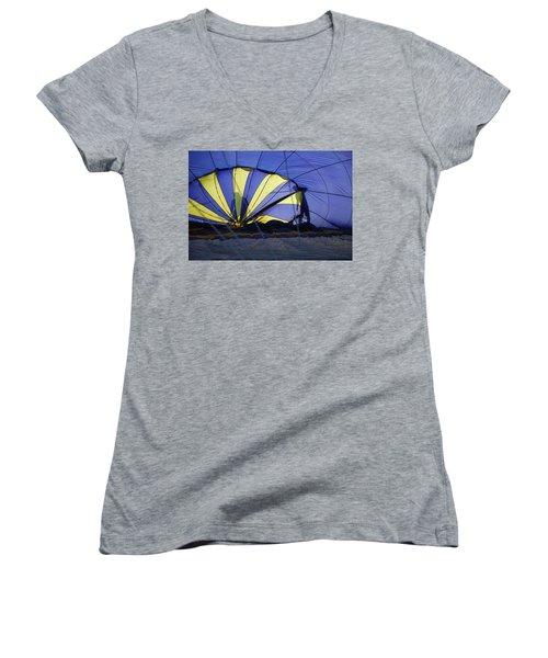 Women's V-Neck T-Shirt (Junior Cut) featuring the photograph Balloon Fantasy 4 by Allen Beatty