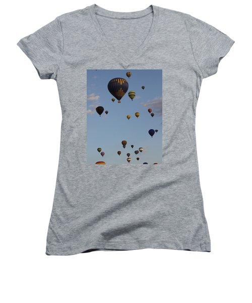Balloon Festival Women's V-Neck T-Shirt
