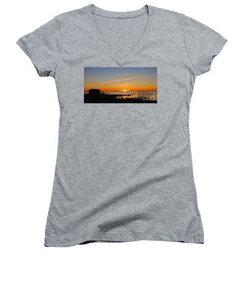 Baltic Sea Sunset Women's V-Neck (Athletic Fit)