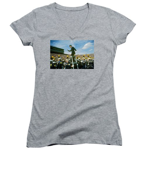 Band Director Women's V-Neck T-Shirt (Junior Cut) by James L. Amos