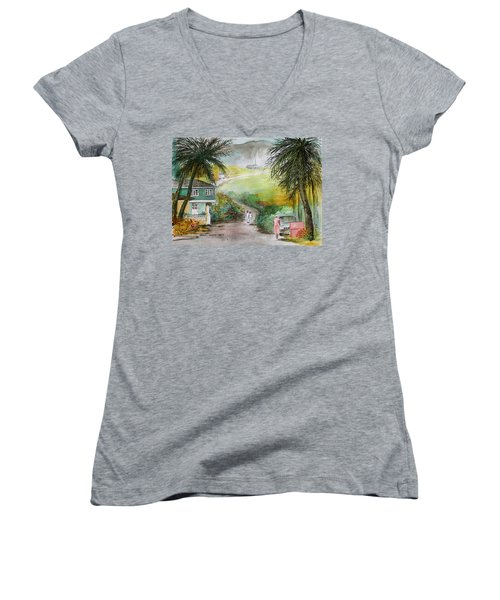 Barbados Women's V-Neck