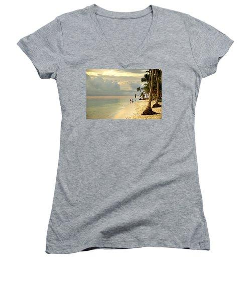 Barefoot On The Beach Women's V-Neck