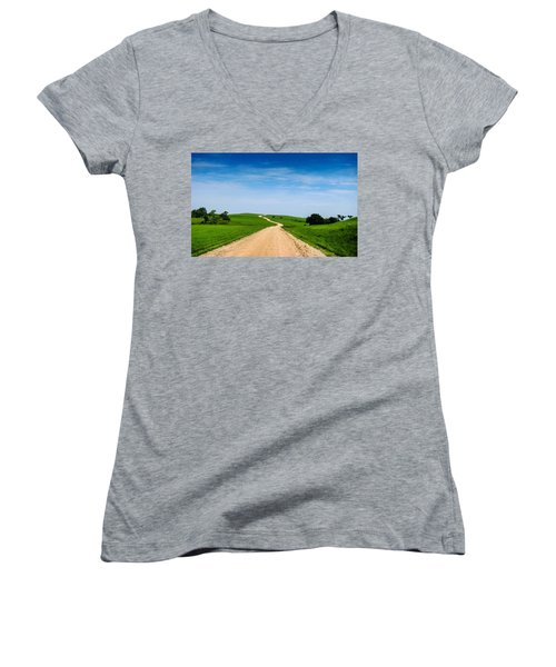 Battle Creek Road From The Saddle Women's V-Neck T-Shirt