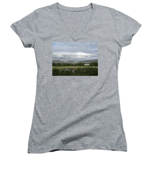 Baughlyvann Clouds Women's V-Neck