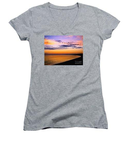 Bay Sunset Women's V-Neck T-Shirt