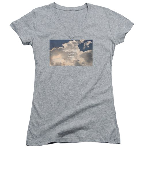 Be Thankful Women's V-Neck (Athletic Fit)