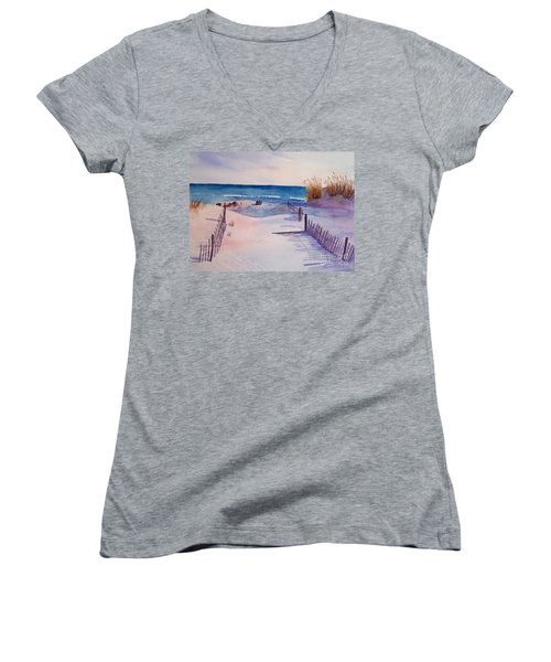 Beach Afternoon Women's V-Neck (Athletic Fit)
