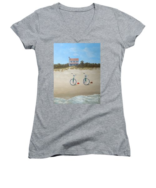 Beach Buddies Women's V-Neck (Athletic Fit)