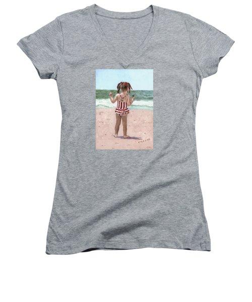 Beach Buns Women's V-Neck