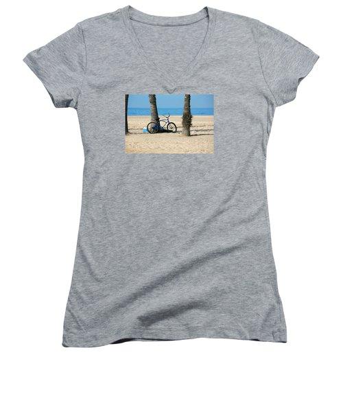 Beach Day Women's V-Neck T-Shirt