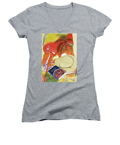 Beach Day Women's V-Neck T-Shirt (Junior Cut)