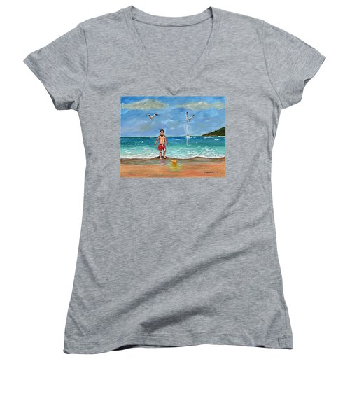 Beach Day Women's V-Neck