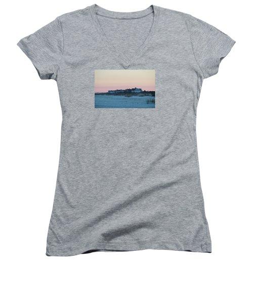 Beach Houses Women's V-Neck T-Shirt (Junior Cut)