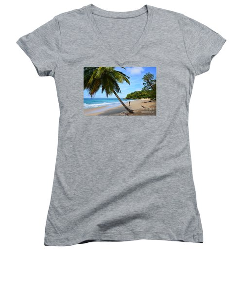 Beach In Dominican Republic Women's V-Neck