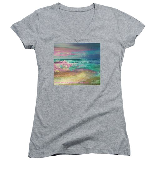 Beach  Overcast Women's V-Neck T-Shirt