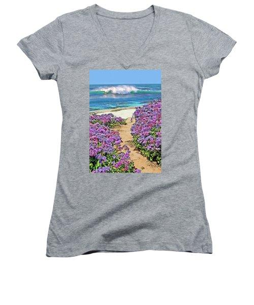 Beach Pathway Women's V-Neck