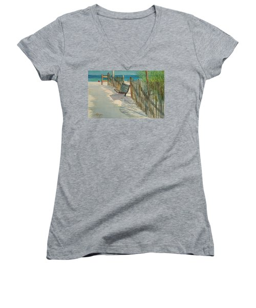 Beach Patterns Women's V-Neck T-Shirt