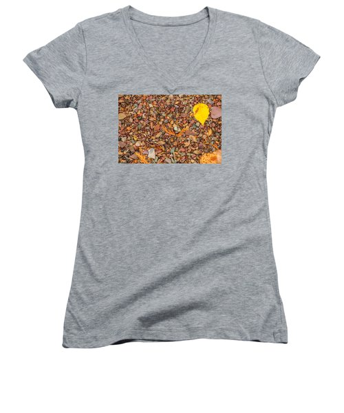 Beach Pebbles Of Montana Women's V-Neck T-Shirt