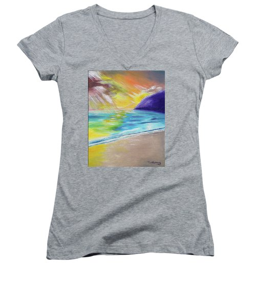 Beach Reflection Women's V-Neck