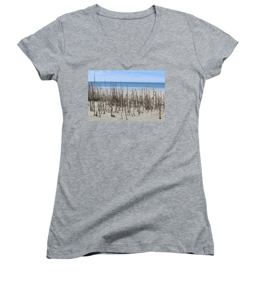 Beach Scene Women's V-Neck