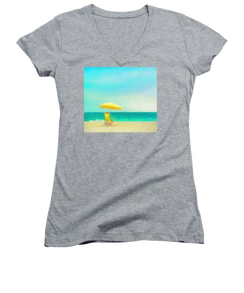Got Beach? Women's V-Neck T-Shirt (Junior Cut) by Douglas MooreZart