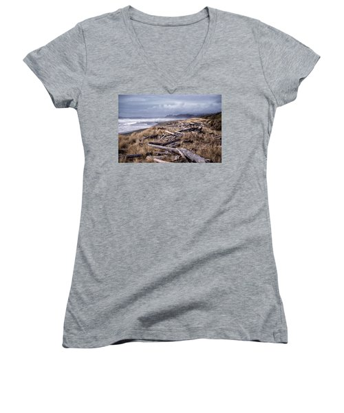 Beached Driftlogs Women's V-Neck