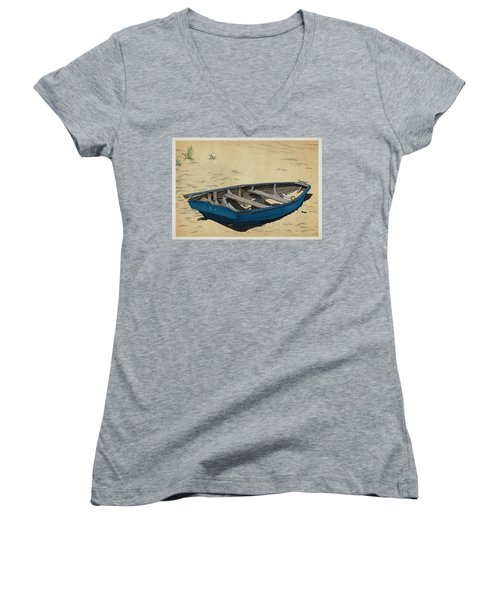 Beached Women's V-Neck T-Shirt