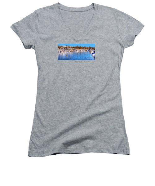 Beacon Bay - South Women's V-Neck T-Shirt (Junior Cut) by Jim Carrell