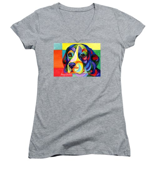 Beagle Women's V-Neck