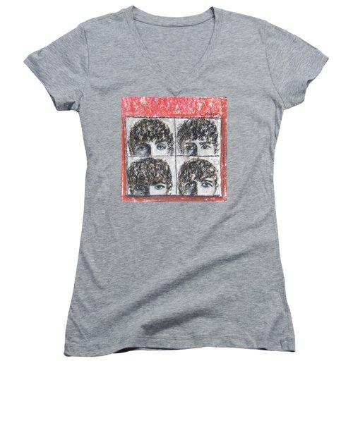 Beatles Hard Day's Night Women's V-Neck
