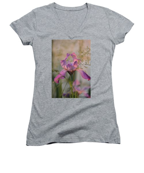 Beautiful And Mystical Iris  Women's V-Neck (Athletic Fit)