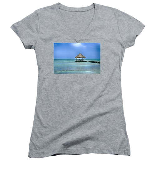 Beautiful Belize Women's V-Neck (Athletic Fit)