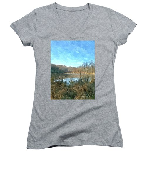 Women's V-Neck T-Shirt (Junior Cut) featuring the photograph Beautiful Day 2 by Sara  Raber