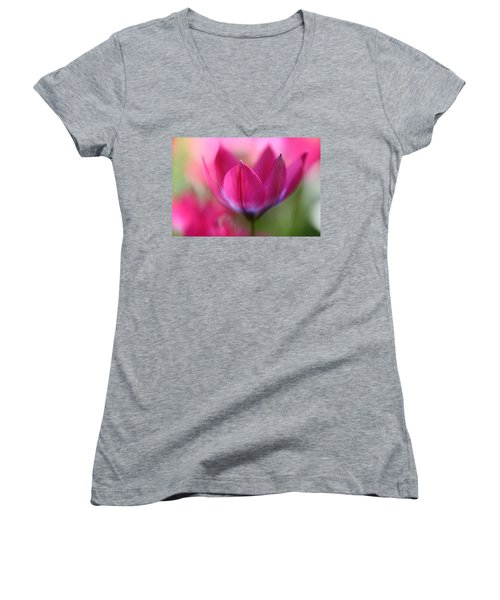 Beautiful Pink Women's V-Neck
