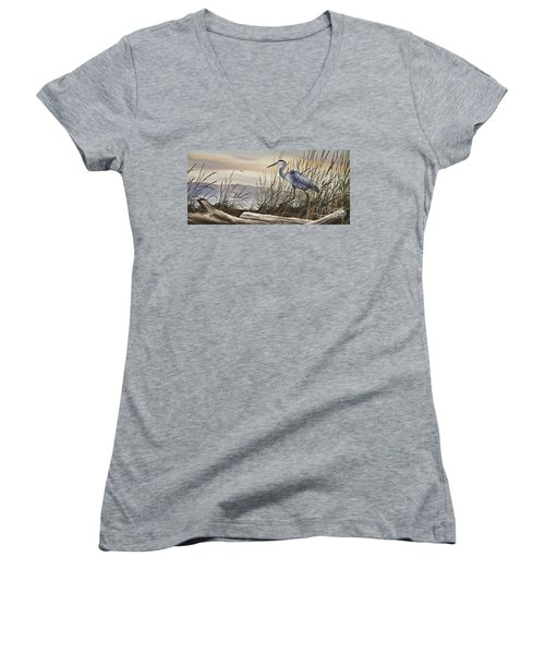 Beauty Along The Shore Women's V-Neck (Athletic Fit)