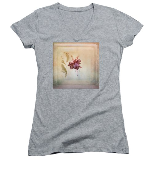 Beauty Fades Softly Framed Women's V-Neck (Athletic Fit)