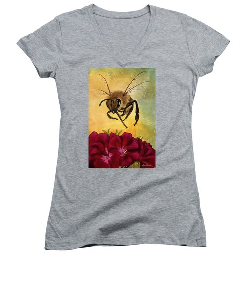 Bee I Women's V-Neck (Athletic Fit)
