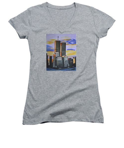 Before The Fall Women's V-Neck (Athletic Fit)