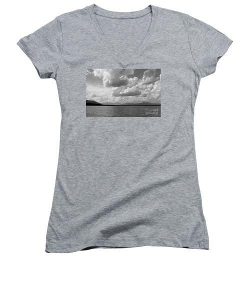 Before The Storm Women's V-Neck T-Shirt (Junior Cut) by Barbara Bardzik