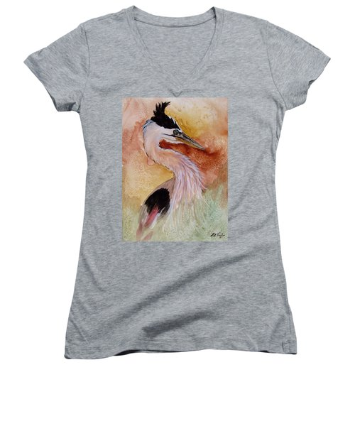 Behind The Grasses Women's V-Neck T-Shirt (Junior Cut) by Lil Taylor