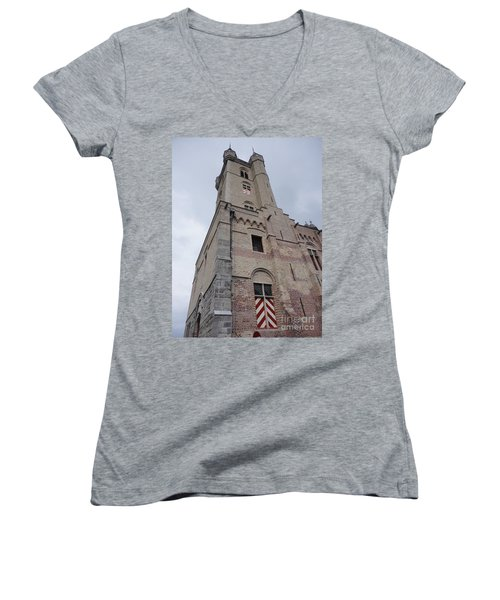 Belfry In Sluis Holland Women's V-Neck T-Shirt