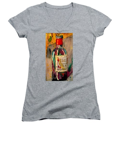 Women's V-Neck T-Shirt (Junior Cut) featuring the painting Bella Vita by Beverley Harper Tinsley